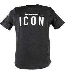 """icon"" black cotton jersey t-shirt"
