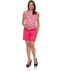 macaquinho tem gente moda gestante pink
