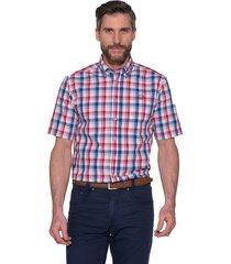 campbell casual shirt met korte mouwen rood