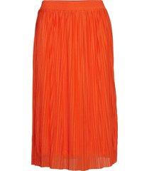 adriannagz skirt hs19 knälång kjol orange gestuz