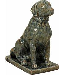 escultura decorativa de porcelana cachorro