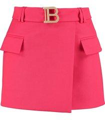 balmain asymmetric wrap skirt