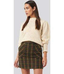 trendyol pocket detailed mini skirt - green