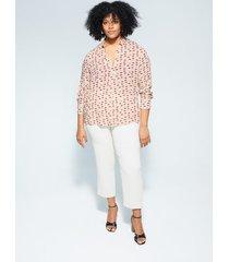 bedrukte blouse met asymmetrische onderkant