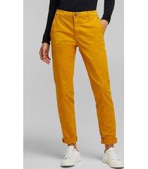 pantalón mujer chino amarillo esprit