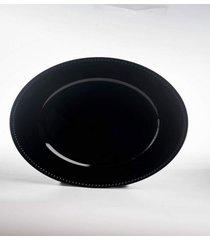 sousplat natalino decoraã§ã£o mesa borda pontilhados preto - preto/vermelho - dafiti