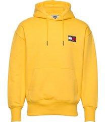 tjm tommy badge hoodie hoodie gul tommy jeans