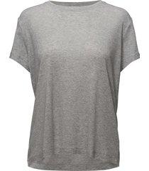 siff tee 6136 t-shirts & tops short-sleeved grå samsøe samsøe
