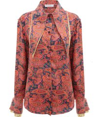 jw anderson paisley-print blouse - red/navy