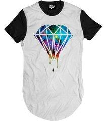 camiseta manga curta skull clothing diamante gal. branco - branco - masculino - algodã£o - dafiti