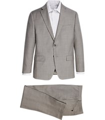 michael kors light gray sharkskin modern fit suit