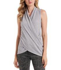 1.state sleeveless wrap top