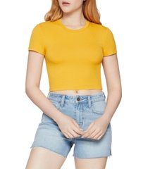 bcbgeneration ribbed-knit cropped top