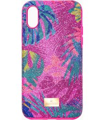 custodia per smartphone con bordi protettivi tropical, iphoneâ® x/xs, multicolore scuro