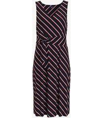 tommy hilfiger women's essential tie-front stripe dress masters navy multi - xxl