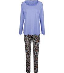 pyjama blue moon lavendel/zwart/mandarijn