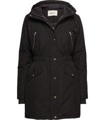 g jacket parka lange jas jas zwart modström