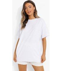 oversized badstoffen t-shirt, white