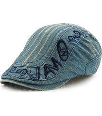 cappello da lavaggio del cotone dell'uomo del berretto con il cappello del cabbie del giornale del giornale del ricamo del fiammifero registrabile
