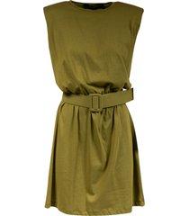 federica tosi belted sleeveless dress