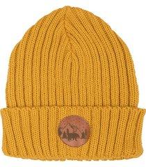 czapka alcatraz bawełna musztardowa