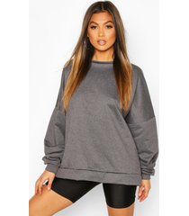 premium oversized sweater, charcoal