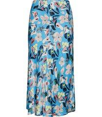 paja knälång kjol blå custommade