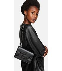 karl lagerfeld women's k/signature small shoulder bag - black/gun metal