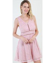 vestido de encaje noa rosa night concept
