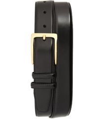 men's johnston & murphy smooth leather belt, size 34 - black