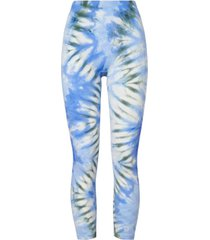 tie-dye seamless chevron cropped leggings