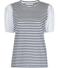 derek lam 10 crosby horizontal-stripe t-shirt - white