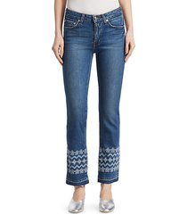 jane embroidered ankle jeans