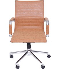 cadeira de escritório esteirinha baixa retrô - caramelo