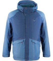 chaqueta tres cruces fusion-3 hoody jacket azul lippi