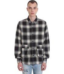rta shirt in grey wool