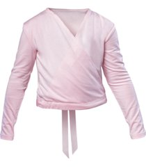 flo dancewear satin-tie crossover top, little girls & big girls