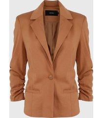 blazer vero moda camel - calce ajustado