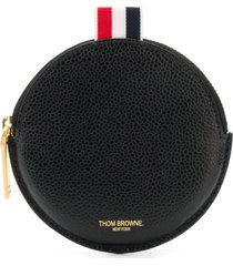 thom browne round coin wallet - black