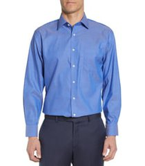men's big & tall nordstrom mens shop traditional fit non-iron dress shirt, size 18 - 36/37 - blue