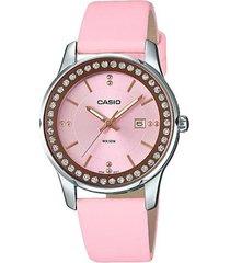 reloj análogo casio ltp-1358l4a2 rosa