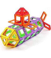 blocos para montar - magforma magnéticos maleta com 20 peças