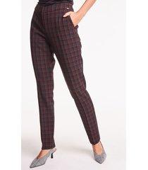eleganckie spodnie w kratę blayne