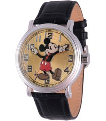 disney mickey mouse men's silver vintage alloy watch