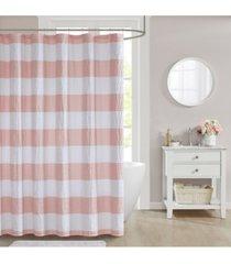 """decor studio orlando 72"""" x 72"""" seersucker shower curtain bedding"""