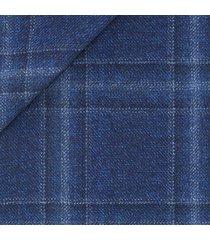 pantaloni da uomo su misura, lanificio zignone, quadrato melange bianco nero blu, autunno inverno
