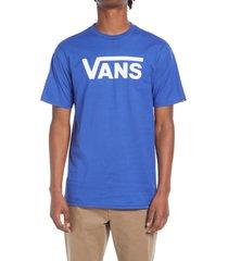 men's vans men's classic logo graphic tee, size x-large - blue