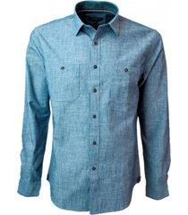 camisa doble bolsillo slim fit potros