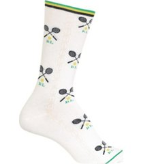 polo ralph lauren women's tennis print crew socks