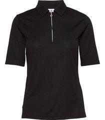macy 1/2s polo shirt t-shirts & tops polos svart daily sports